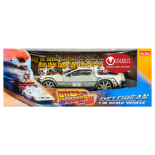 Load image into Gallery viewer, Michael J. Fox Autographed Back to the Future III 1:18 Scale Die-Cast DeLorean