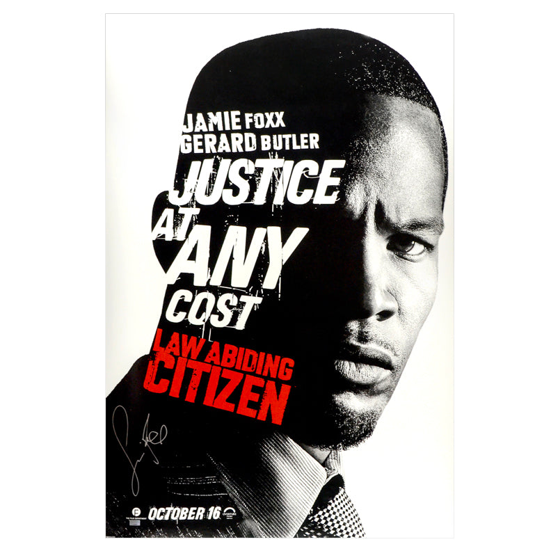 Jamie Foxx Autographed 2009 Law Abiding Citizen Original 27x40 Double-Sided Movie Poster