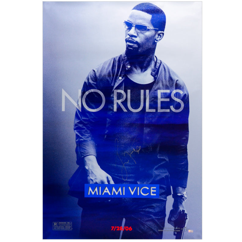 Jamie Foxx Autographed Miami Vice 27x40 Single-Sided Movie Poster