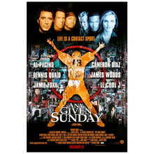 Load image into Gallery viewer, Al Pacino, Jamie Foxx Autographed Any Given Sunday 27x40 Double Sided Original Movie Poster