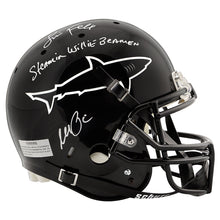 Load image into Gallery viewer, Al Pacino, Jamie Foxx Autographed Any Given Sunday Sharks Full Size Helmet with Steamin Willie Beamin Inscription