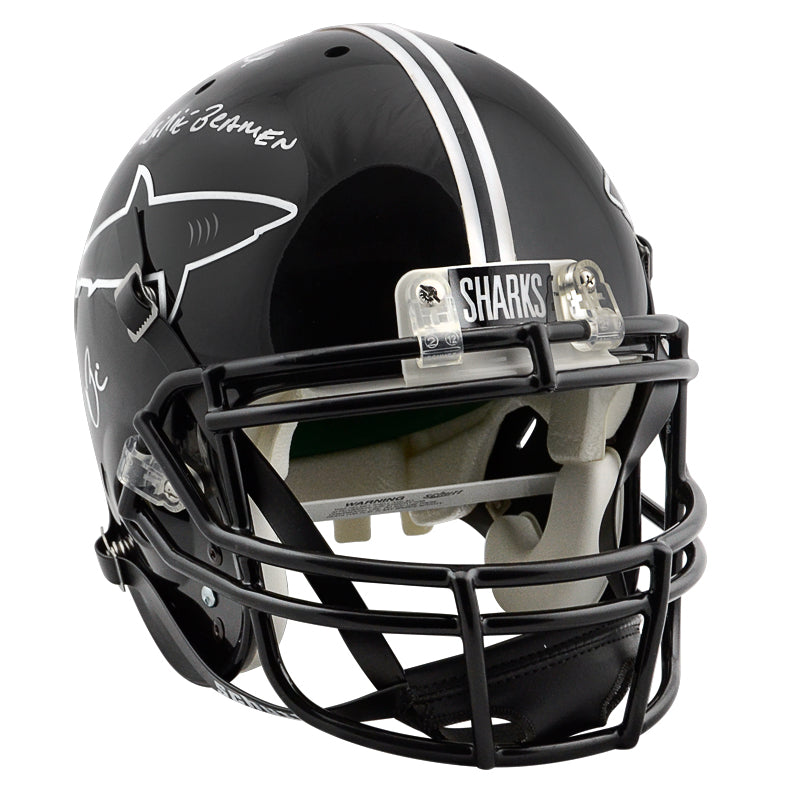 Al Pacino, Jamie Foxx Autographed Any Given Sunday Sharks Full Size Helmet with Steamin Willie Beamin Inscription