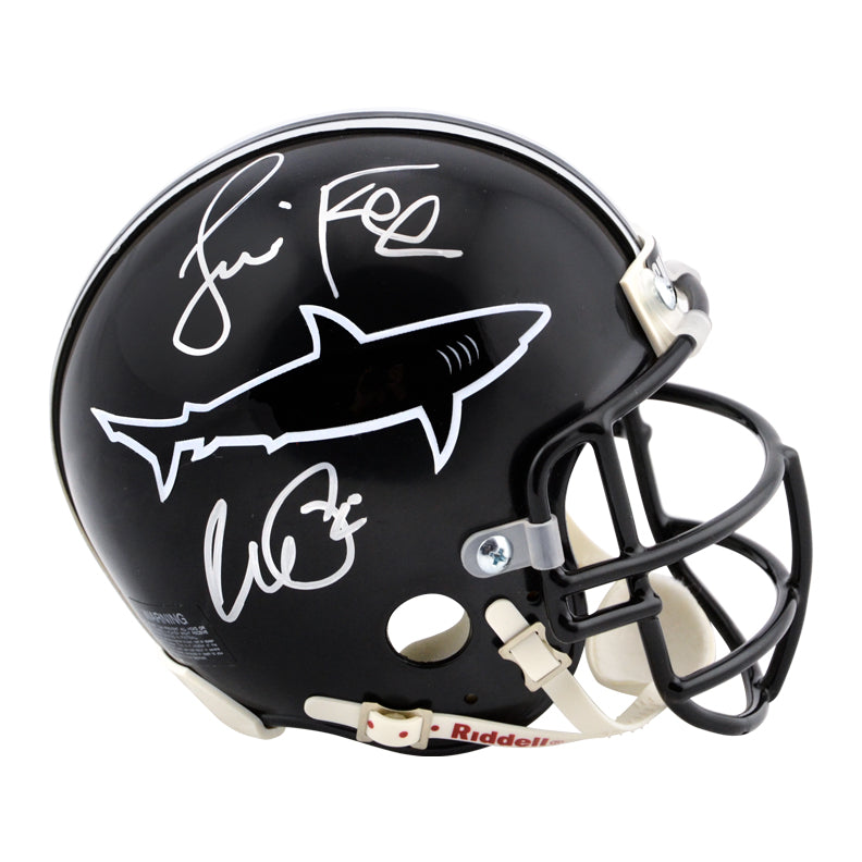 Al Pacino, Jamie Foxx Autographed Any Given Sunday Sharks Mini-Helmet