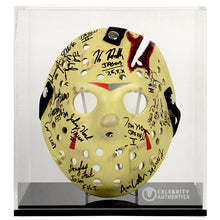 Load image into Gallery viewer, Friday the 13th Jason Voorhees Cast Autographed 1:1 Scale Mask Series 2 with Display Case