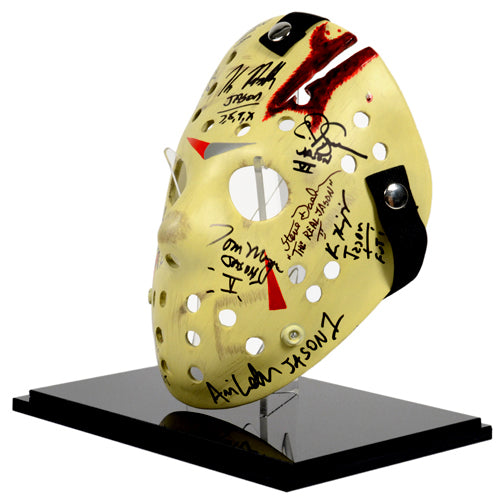 Friday the 13th Jason Voorhees Cast Autographed 1:1 Scale Mask Series 2 with Display Case