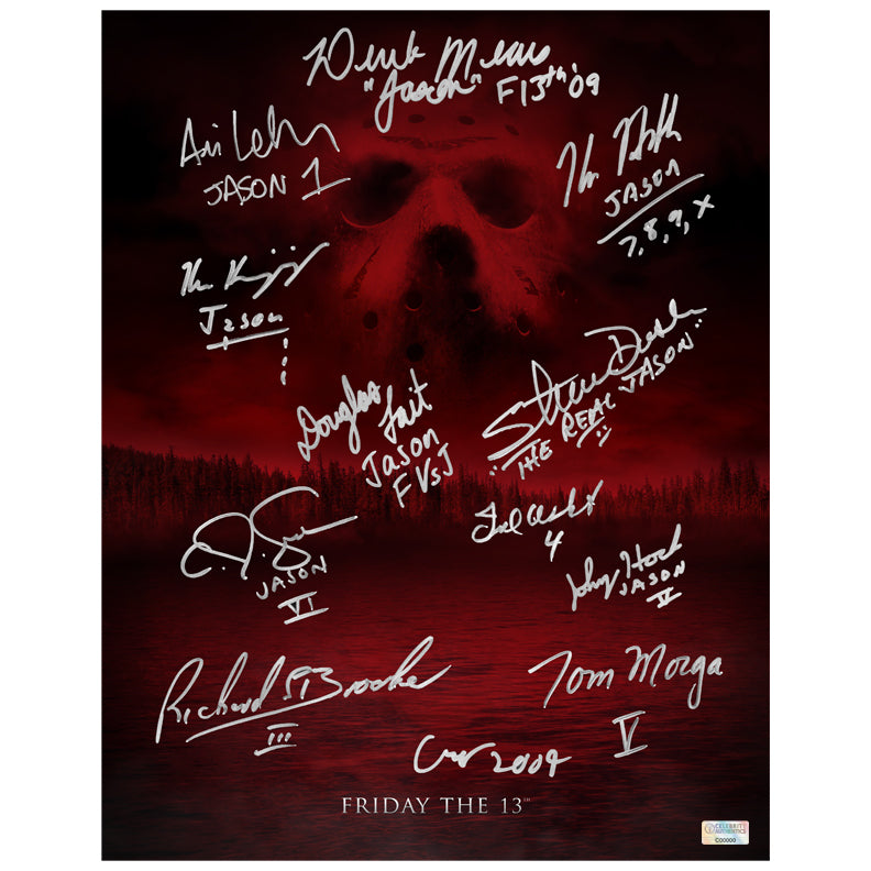 Friday the 13th Cast Autographed 11×14 Camp Blood Poster