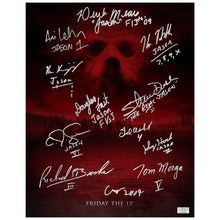 Load image into Gallery viewer, Friday the 13th Cast Autographed 11×14 Camp Blood Poster
