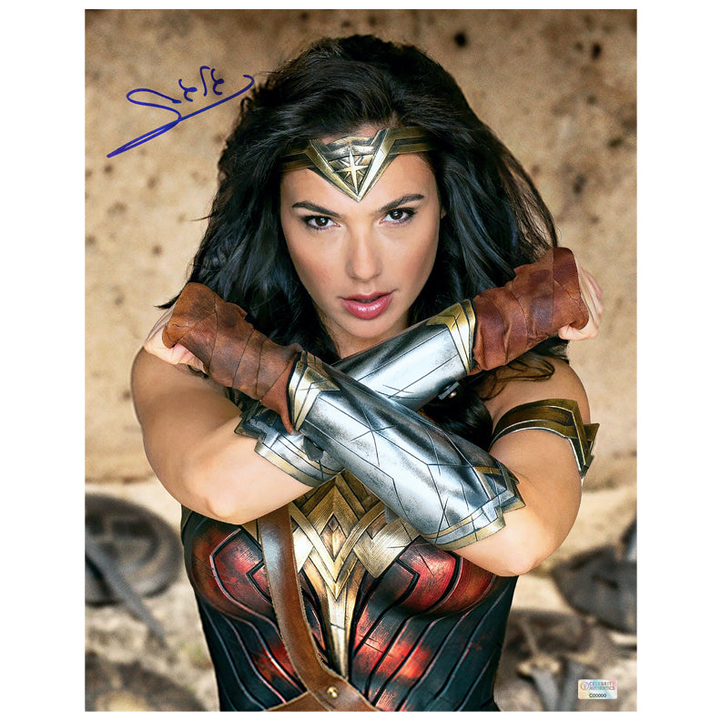 Gal Gadot Autographed Wonder Woman Princess Diana 11x14 Photo