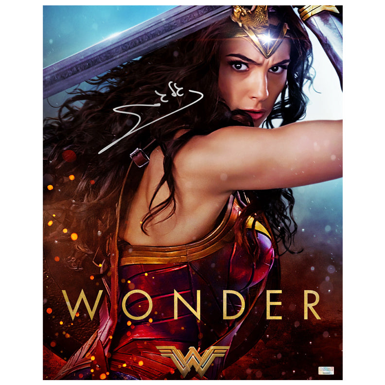 Gal Gadot Autographed Wonder Woman Promo 16x20 Photo