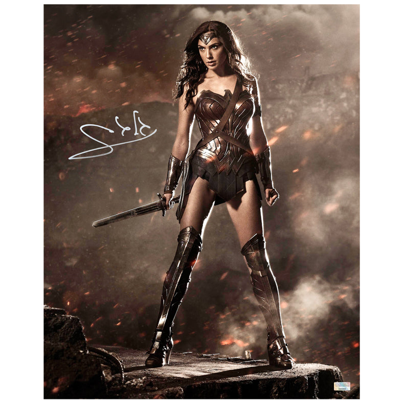 Gal Gadot Autographed Wonder Woman 16×20 Photo
