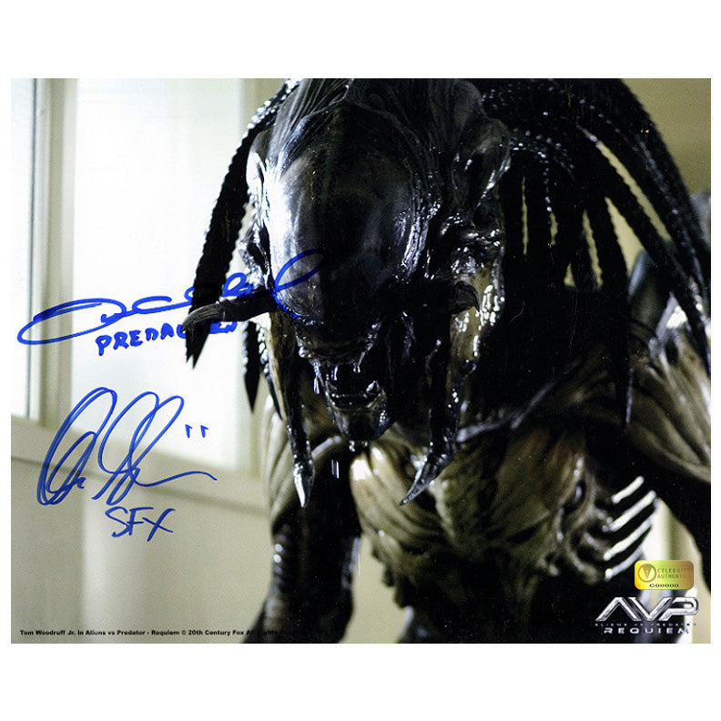 Alec Gillis, Tom Woodruff Jr. Autographed AVP: Aliens vs Predator Requiem 8×10 Photo