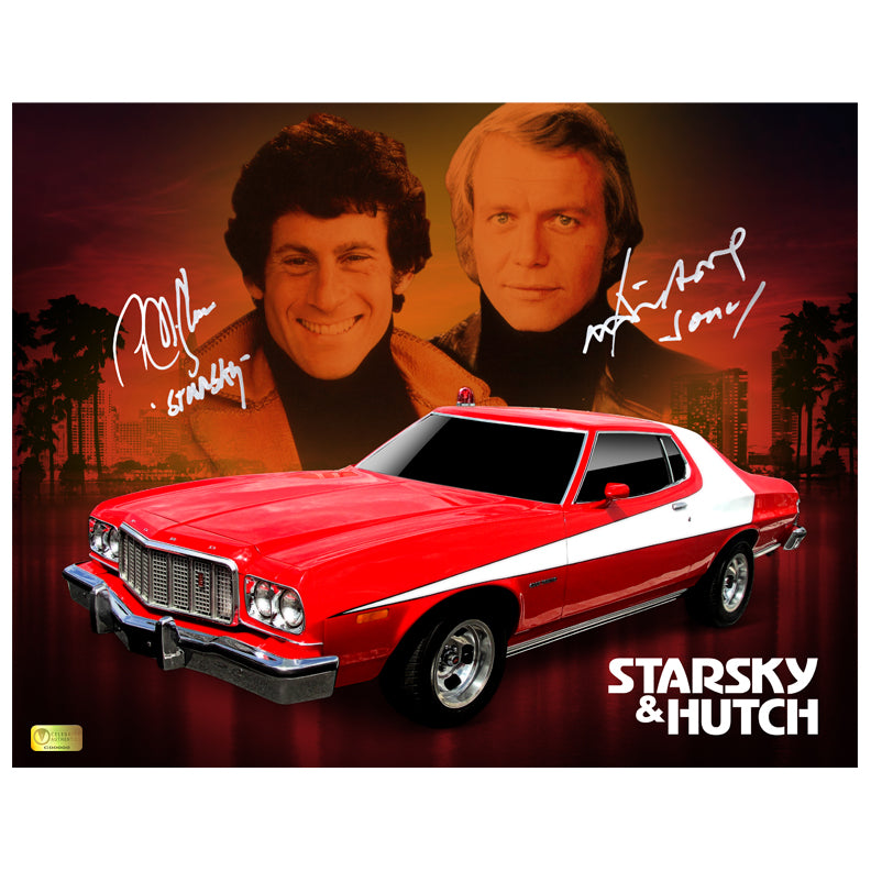 David Soul and Paul Michael Glaser Autographed Starsky and Hutch Tribute 11x14 Photo