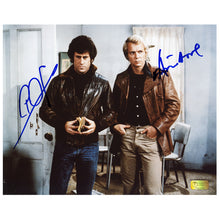 Load image into Gallery viewer, David Soul and Paul Michael Glaser Autographed Starsky and Hutch 8x10 Scene Photo