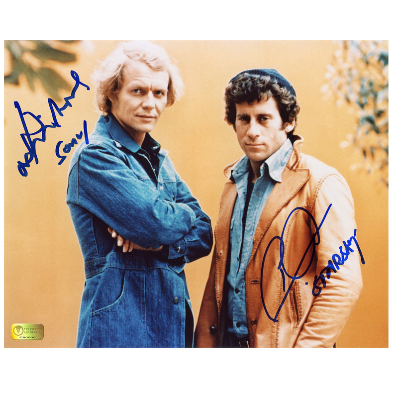 David Soul and Paul Michael Glaser Autographed Starsky and Hutch 8x10 Photo