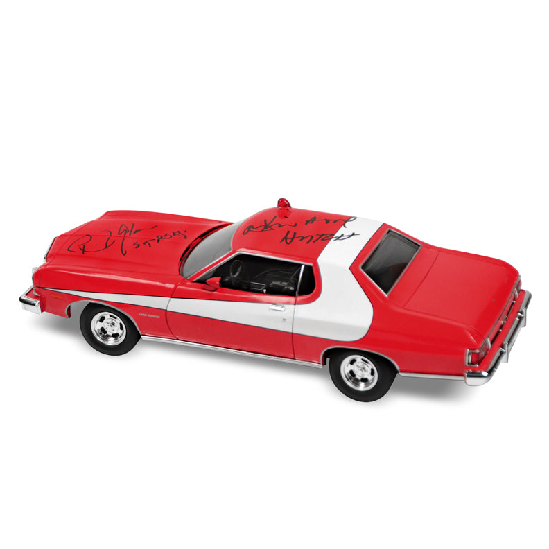David Soul and Paul Michael Glaser Autographed Starsky and Hutch Torino 1:18 Scale Die-Cast Car
