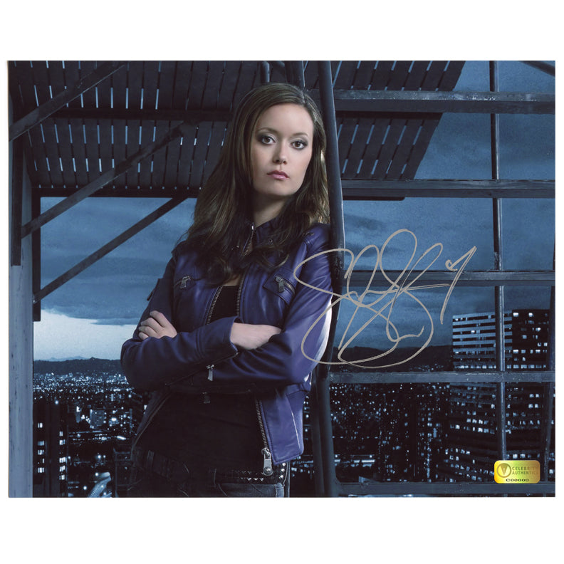 Summer Glau Autographed Sarah Connor Chronicles Terminator On Set 8x10 Photo