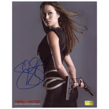 Load image into Gallery viewer, Summer Glau Autographed Sarah Connor Chronicles Terminator 8x10 Studio Photo