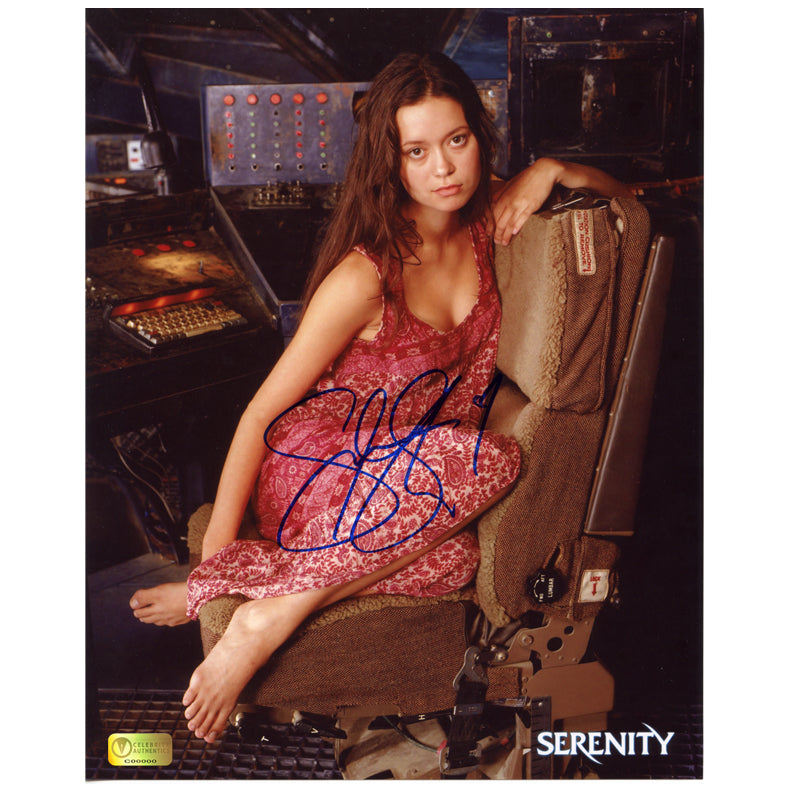 Summer Glau Autographed Serenity Flight Seat 8x10 Photo