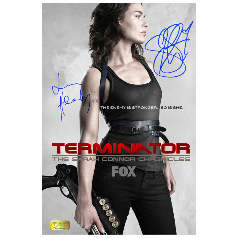 Summer Glau, Lena Headey Autographed Sarah Connor Chronicles 8×12 Promo Photo