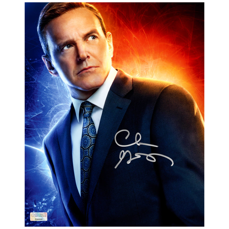 Clark Gregg Autographed Captain Marvel Agent Coulson 8x10 Photo