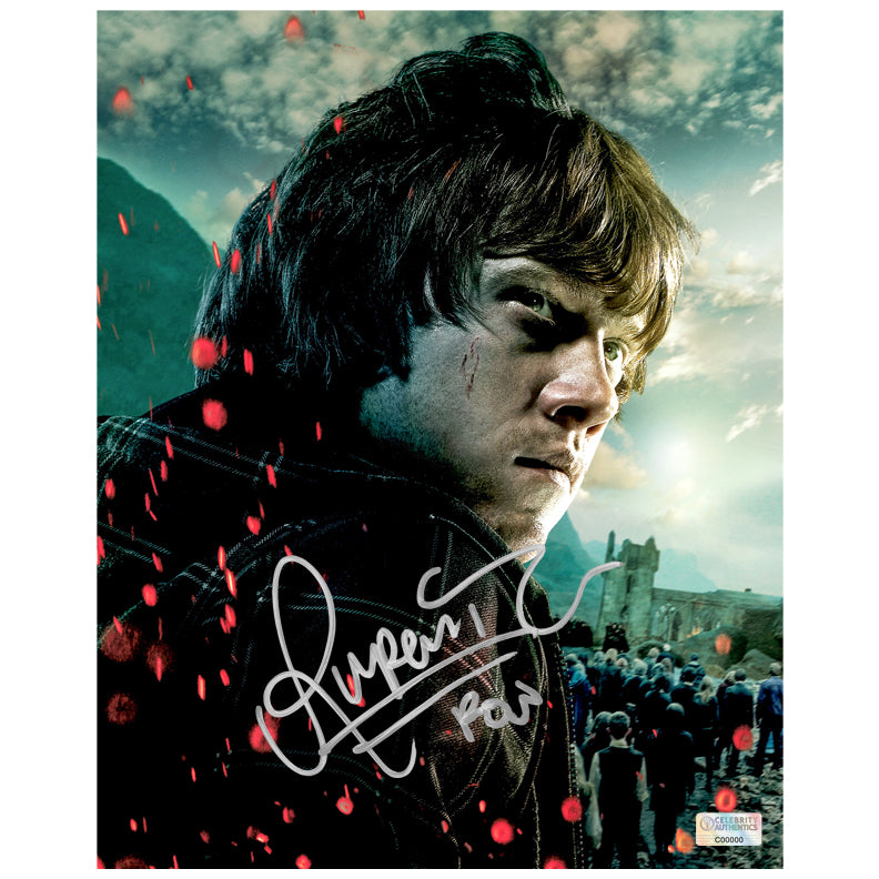Rupert Grint Autographed Harry Potter Ron Weasley 8x10 Close Up Photo