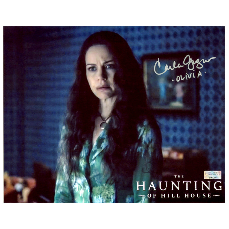Carla Gugino Autographed The Haunting of Hill House Olivia Crain 8×10 Photo
