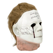 Load image into Gallery viewer, Jamie Lee Curtis, John Carpenter and Dick Warlock Autographed Halloween II Michael Myers Mask