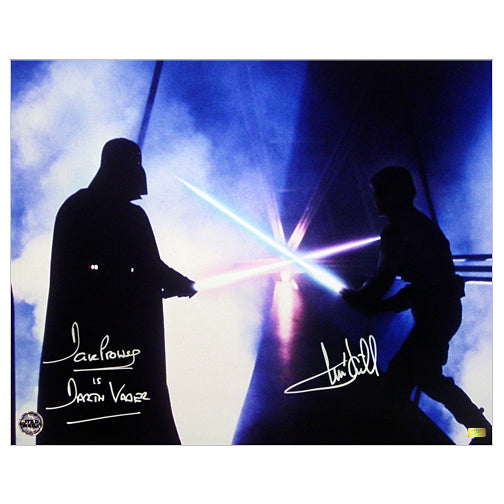 Mark Hamill and David Prowse Autographed Star Wars: The Empire Strikes Back Battle 16x20 Photo