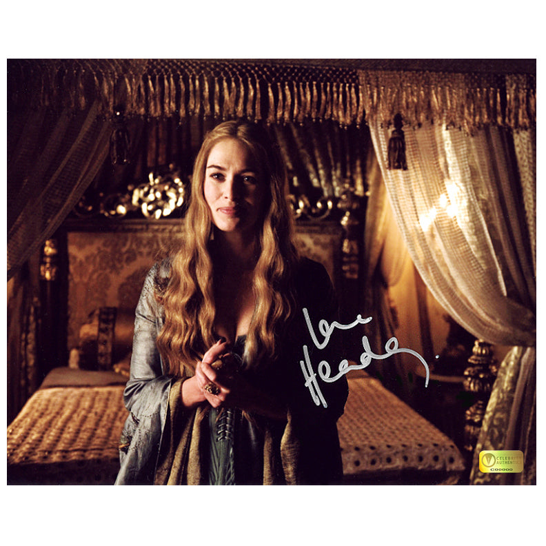 Lena Headey Autographed Game of Thrones Cersei Boudoir 8x10 Photo