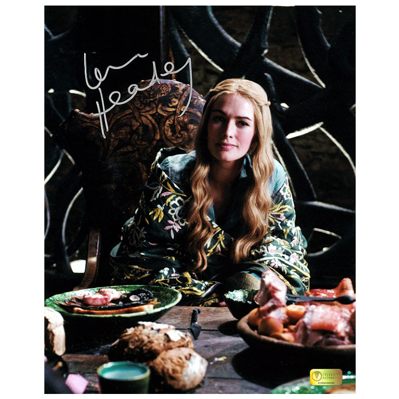 Lena Headey Autographed Game of Thrones Cersei Dining Room 8x10 Photo