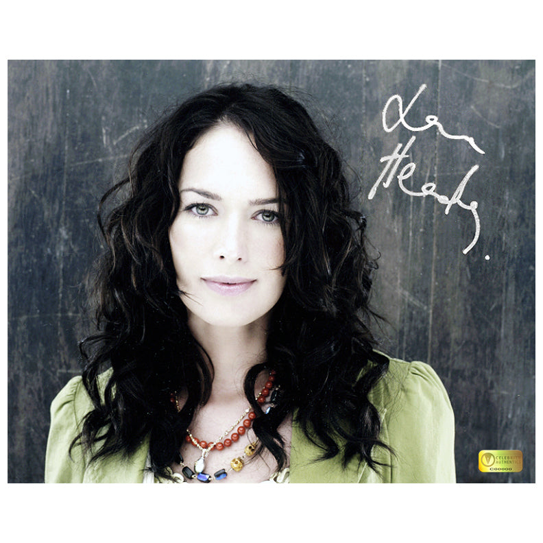 Lena Headey Autographed Portrait 8x10 Photo