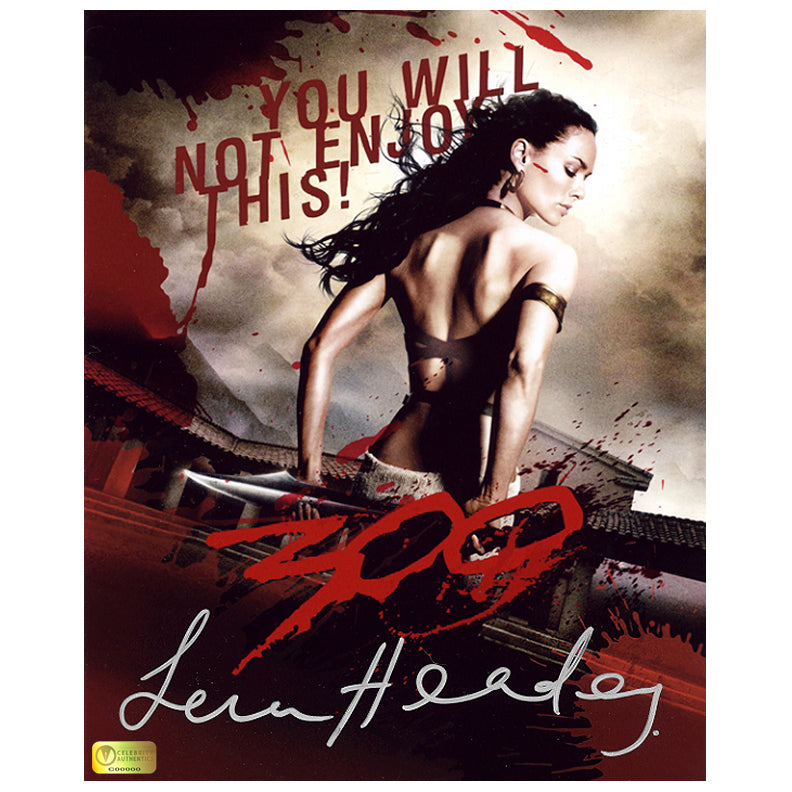 Lena Headey Autographed 300 Queen Gorgo 8x10 Poster Photo