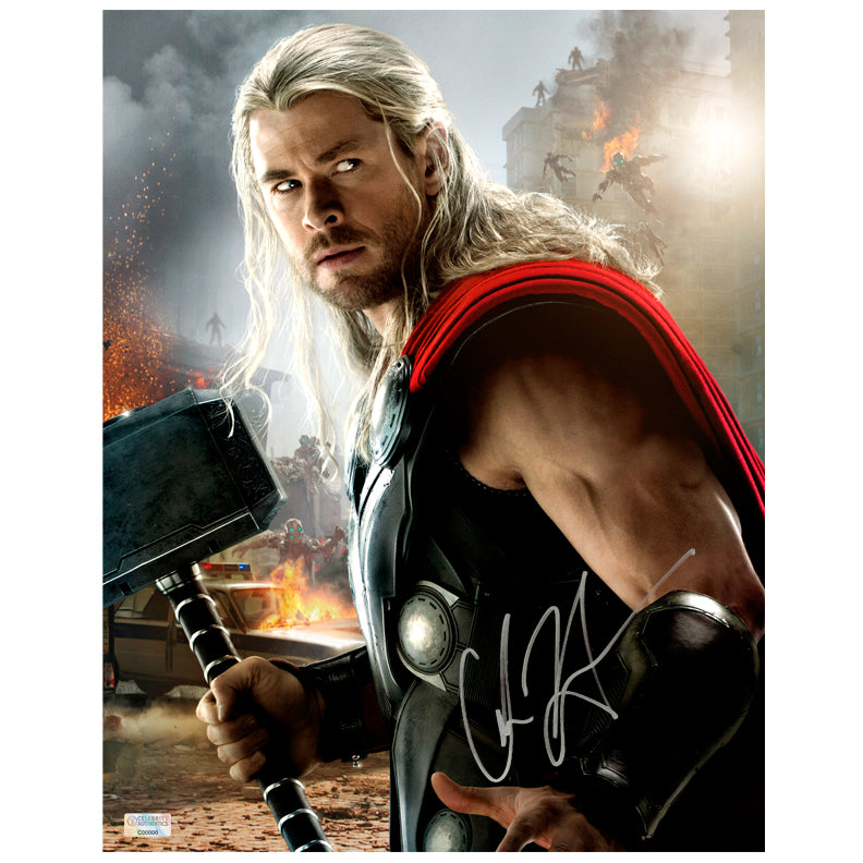Chris Hemsworth Autographed Avengers: Age of Ultron Thor 11x14 Photo