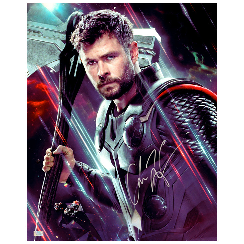 Chris Hemsworth Autographed Avengers End Game Thor 16x20 Photo