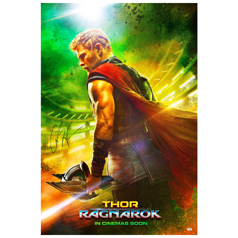 Chris Hemsworth Autographed Thor Ragnarok Original 27x40 Double-Sided Movie Poster