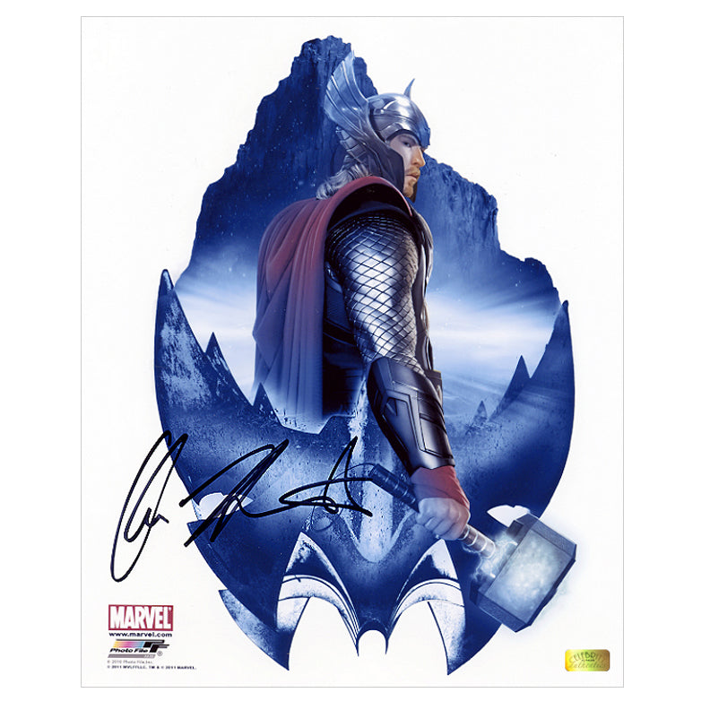 Chris Hemsworth Autographed Thor Movie Asgard Art 8x10 Photo