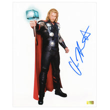 Load image into Gallery viewer, Chris Hemsworth Autographed Thor Movie Concept Art 8x10 Photo