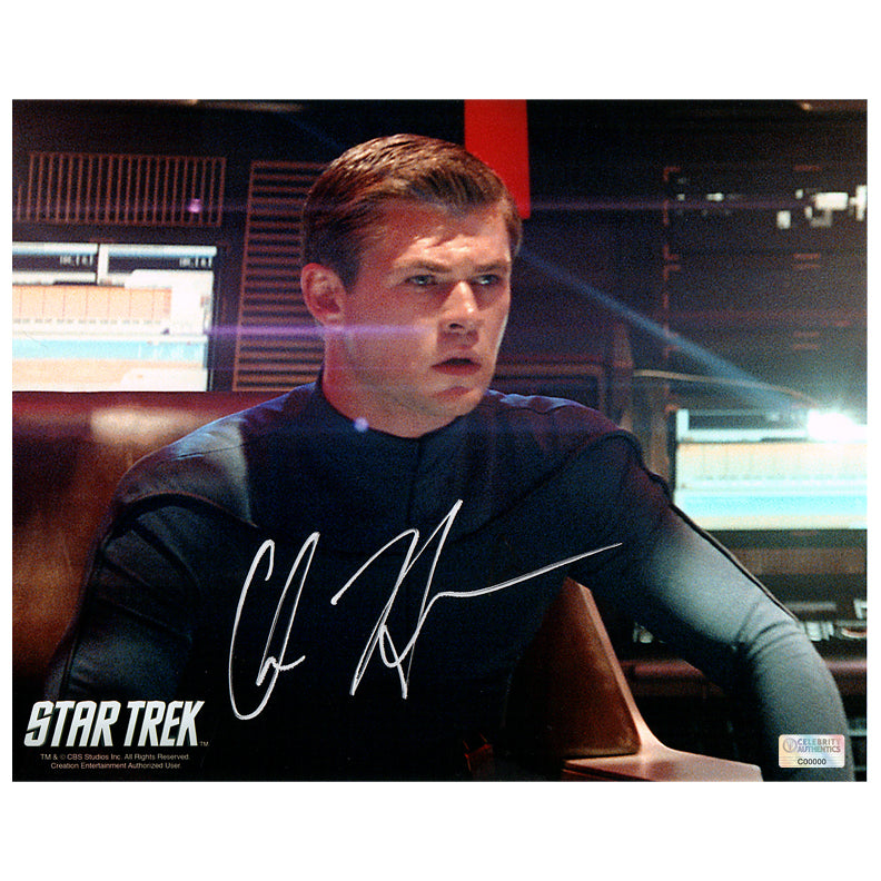 Chris Hemsworth Autographed Star Trek George Kirk 8x10 Photo