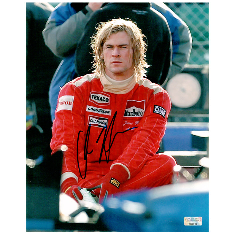 Chris Hemsworth Autographed Rush James Hunt 8x10 Photo