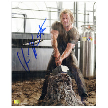 Load image into Gallery viewer, Chris Hemsworth Autographed Thor Mjolnir Hammer 8x10 Photo