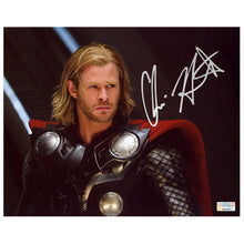 Load image into Gallery viewer, Chris Hemsworth Autographed Thor Movie Scene 8x10 Photo