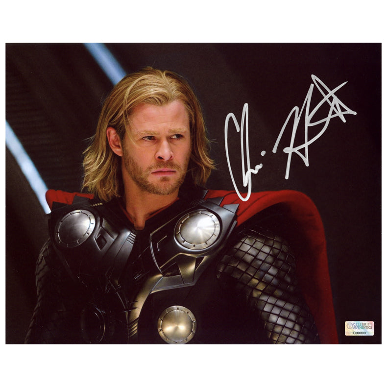 Chris Hemsworth Autographed Thor Movie Scene 8x10 Photo
