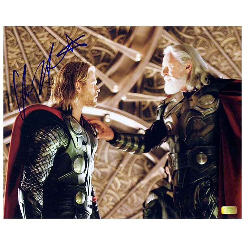 Chris Hemsworth Autographed Thor and Odin 8x10 Photo