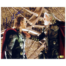 Load image into Gallery viewer, Chris Hemsworth Autographed Thor and Odin 8x10 Photo