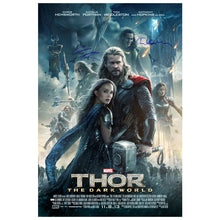 Load image into Gallery viewer, Chris Hemsworth and Tom Hiddleston Autographed Thor: The Dark World 27x40 Original Poster