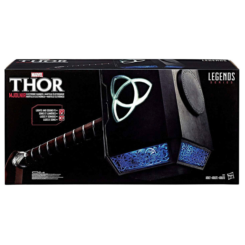 Chris Hemsworth Autographed Hasbro Marvel Legends Avengers Thor Prop Replica 1:1 Hammer