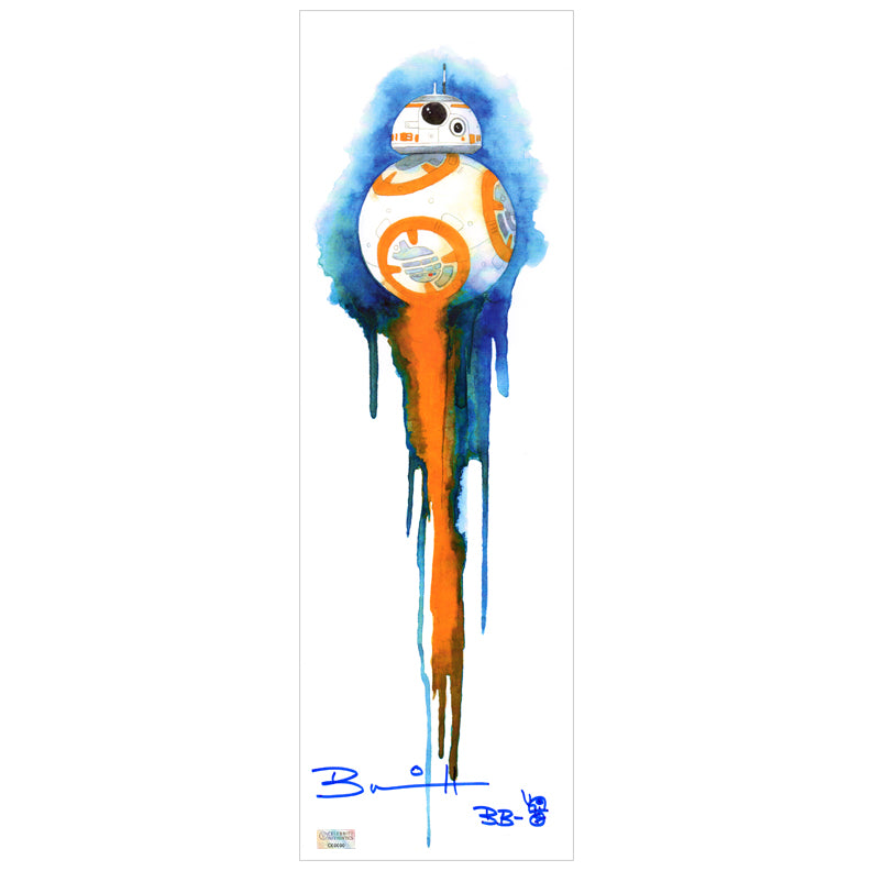 Brian Herring Autographed Star Wars BB-8 5.5x17 Art Print