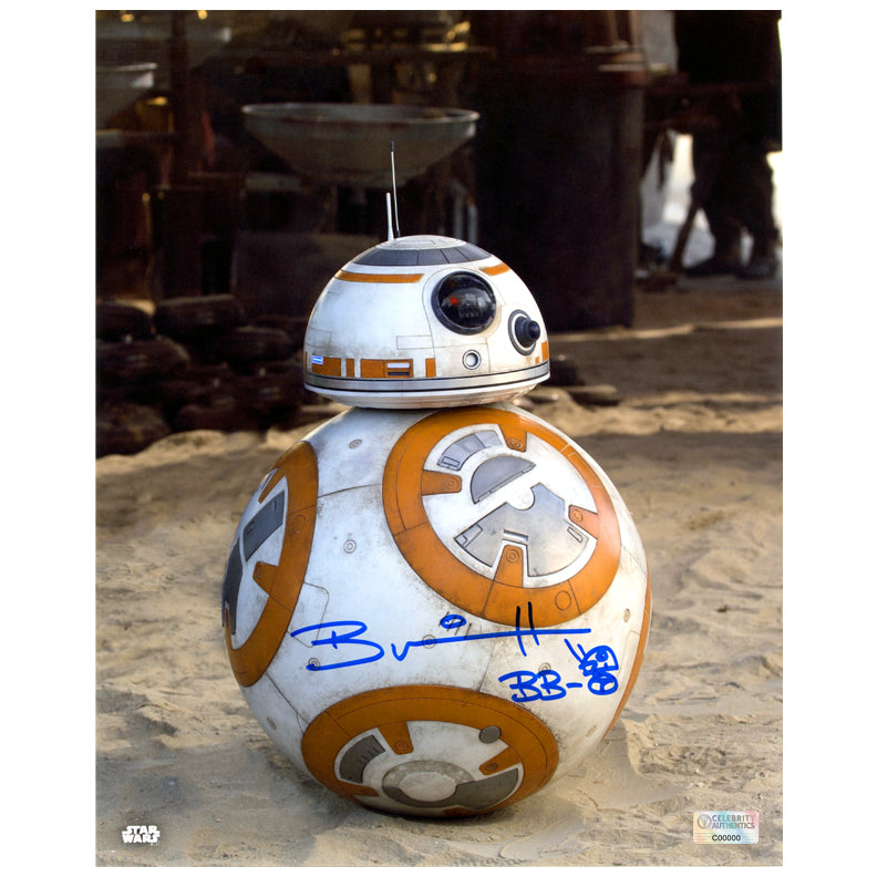 Brian Herring Star Wars: The Force Awakens Autographed BB-8 8×10 Close Up Photo