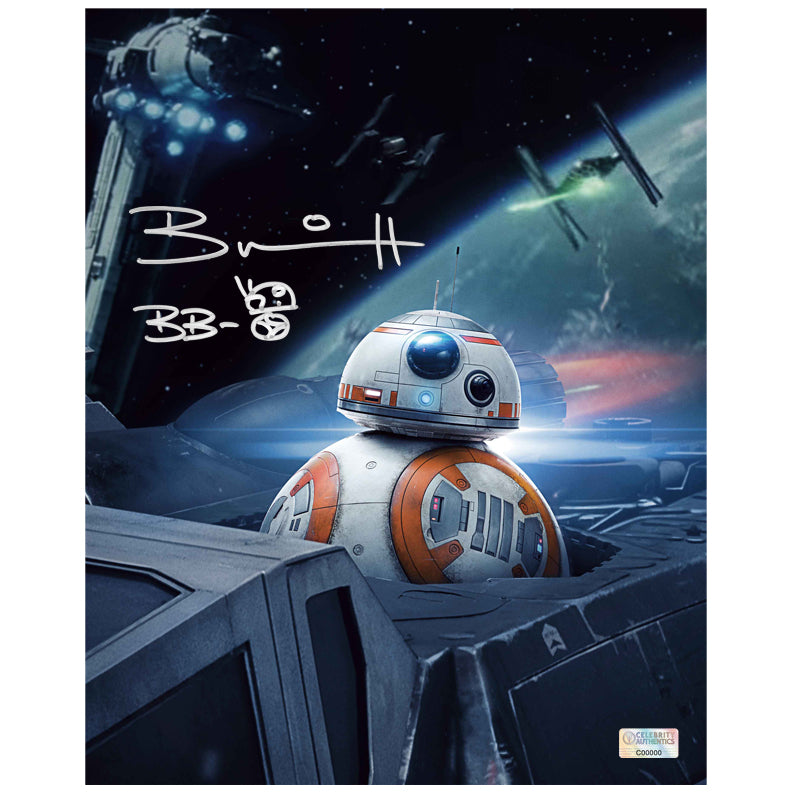 Brian Herring Autographed Star Wars: The Last Jedi BB-8 8x10 Photo