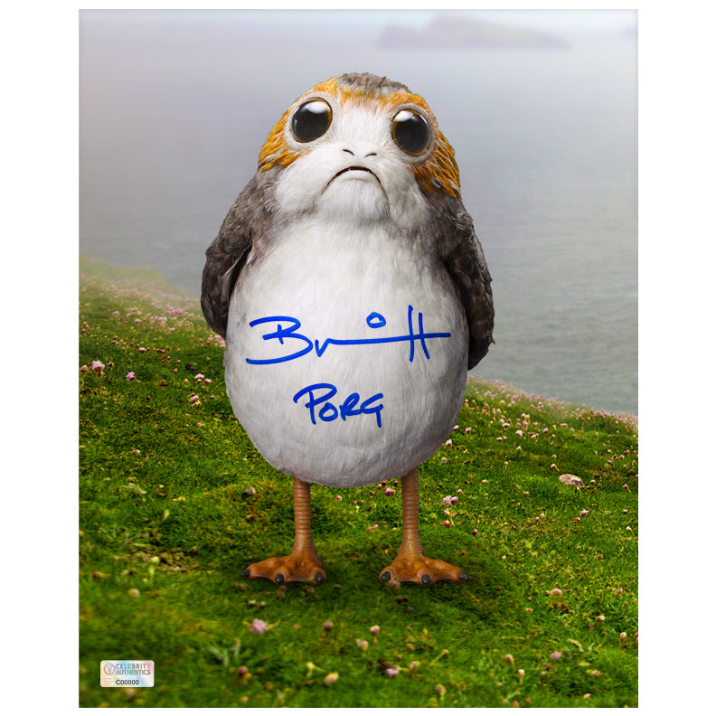 Brian Herring Autographed Star Wars: The Last Jedi Porg 8x10 Photo